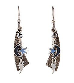 Silver Forest® Silvertone Celestial Charms Earrings