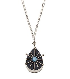 Silver Forest® Silvertone Layered Starburst Necklace