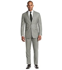 English Laundry® Men's Light Gray Plaid 2-Piece Suit