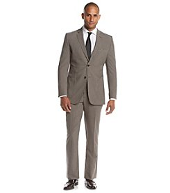 English Laundry® Men's Brown Mini-Checked 2-Piece Suit