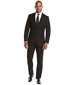 English Laundry® Men's Black Patterned 2-Piece Suit