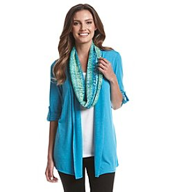 Notations® Printed Scarf Layered Look Top