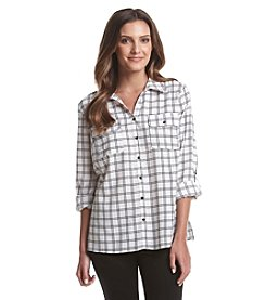Notations Printed Button Front Shirt