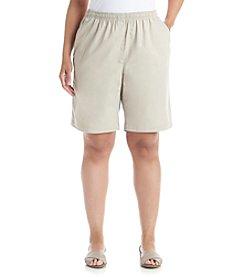 Breckenridge® Plus Size Solid Twill Shorts