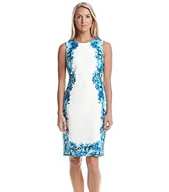 Calvin Klein Floral Scuba Sheath Dress