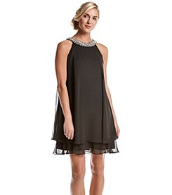 Vince Camuto® Embellished Chiffon Dress