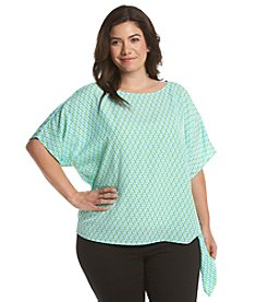 MICHAEL Michael Kors® Plus Size Mini Retro Tie Top