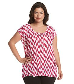 MICHAEL Michael Kors® Plus Size Printed Short Sleeve Top