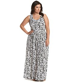 MICHAEL Michael Kors® Plus Size Printed Twist Strap Maxi Dress