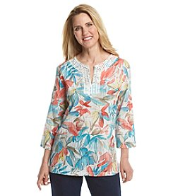 Alfred Dunner® Petites' Cozumel Tropical Tunic
