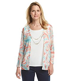 Alfred Dunner® Petites' Cozumel Abstract Print Layered Look Top