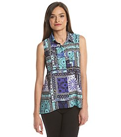 Notations® Petites' Printed Sleeveless Shirt