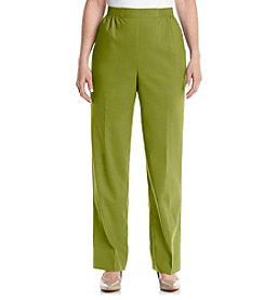 Alfred Dunner® Petites' Cyprus Solid Pull On Short Pants
