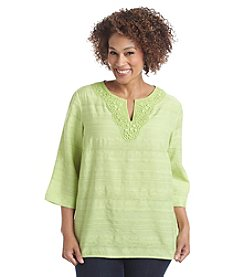 Alfred Dunner® Plus Size Sao Paulo Woven Tunic