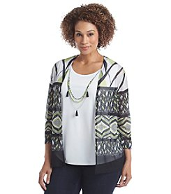 Alfred Dunner® Plus Size Sao Paulo Printed Layered Look Top