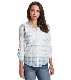 Vintage America Blues™ Embroidered Tie-Dye Top