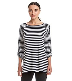 Calvin Klein Performance Striped Roll Tab Tee
