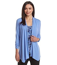 Notations® Solid Cozy Layered Look Top