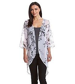 Ruff Hewn GREY Branch Print Kimono