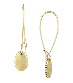 The Sak® Goldtone Elongated Hoop Drop Earrings