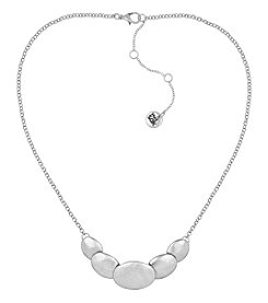 The Sak® Silvertone Overlap Frontal Necklace