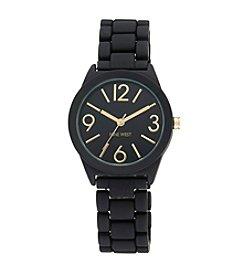 Nine West® Women's Black Rubberized Bracelet Watch
