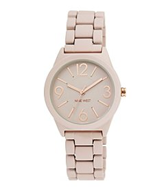 Nine West® Women's Pink Rubberized Bracelet Watch