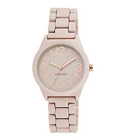 Nine West® Women's Pink Rubberized Bracelet Watch