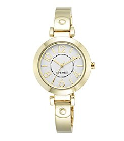 Nine West® Women's Goldtone Bangle With Easy Reader Dial