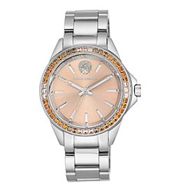 Vince Camuto™ Multi-Colored Crystal Silvertone Bracelet Watch