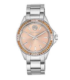 Vince Camuto™ Multi-Colored Crystal Silvertone Bracelet Watch