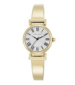 Anne Klein® Women's Goldtone Roman Numeral Bangle Watch