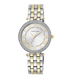 Anne Klein® Women's Crystal Bezel Two-Tone Bracelet Watch