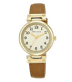 Anne Klein® Women's Goldtone Classic Numeral Strap Watch