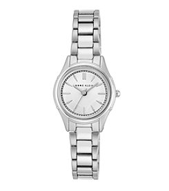 Anne Klein® Women's Silvertone Polished Bracelet Watch