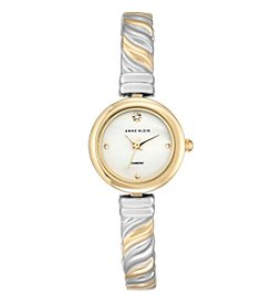 Anne Klein® Women's Diamond Dial Two-Tone Bangle Watch