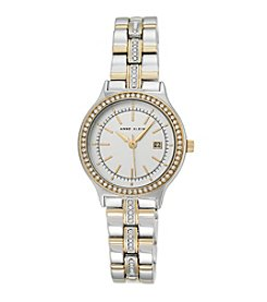 Anne Klein® Women's Crystal Bezel And Bracelet Two-Tone Watch