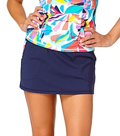 Anne Cole® Bright On Side Panel Swim Skirt