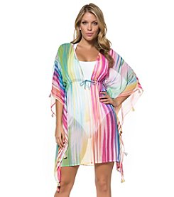 Bleu|Rod Beattie® Striped Caftan Cover-Up
