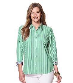 Chaps® Plus Size Striped Cotton Shirt