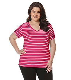 Rafaella® Plus Size Striped Tee