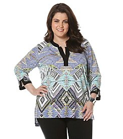 Rafaella® Plus Size Block Print Tunic
