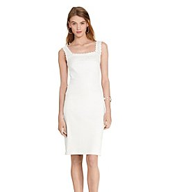 Lauren Ralph Lauren® Petites' Crochet-Trim Ribbed Dress
