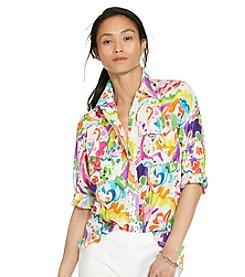 Lauren Ralph Lauren® Petites' Paisley Cotton-Silk Shirt