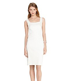 Lauren Ralph Lauren® Crochet-Trim Cotton Dress