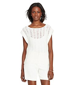 Lauren Ralph Lauren® Crocheted Cap-Sleeve Sweater
