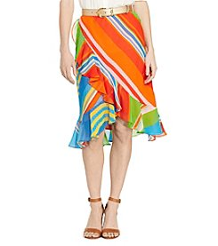 Lauren Ralph Lauren® Striped Ruffle Georgette Skirt