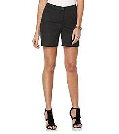 Rafaella® Petites' Solid Curvy Fit Shorts