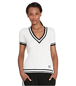 Lauren Active® V-Neck Herringbone Shirt