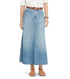 Lauren Jeans Co.&Reg; A-Line Denim Skirt